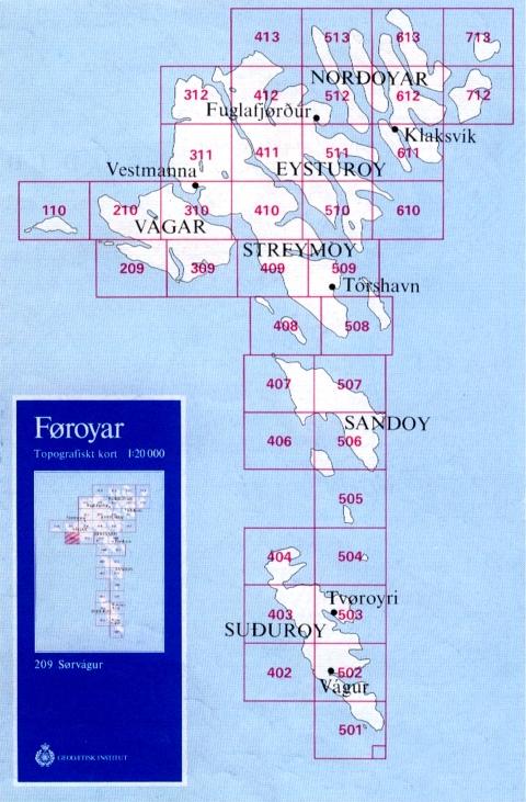 Färöer Inseln Karte.Färöer Topograhische Karten 1 20 000 Geobuchhandlung Kiel