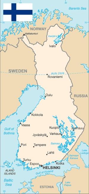 Finnland Karte Regionen.Finnland Landkarten Und Reisefuhrer