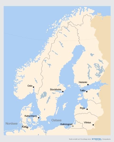 Nordeuropa Landkarten Und Reisefuhrer
