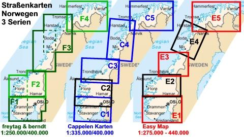 Karte Südnorwegen.Straßenkarten Norwegen Geobuchhandlung Kiel