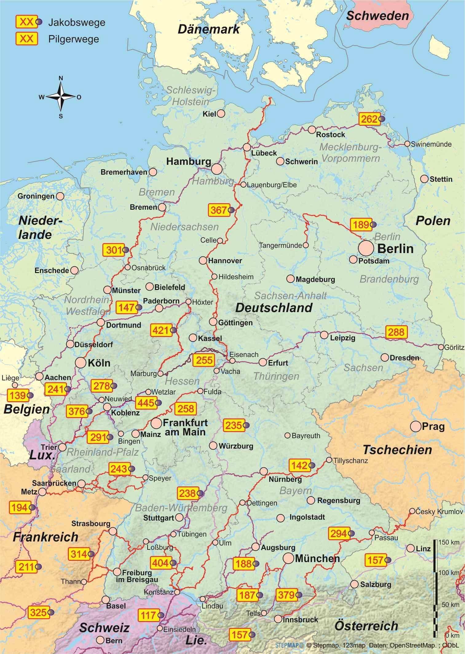 pilgerwege deutschland karte Pilgerführer   OutdoorHandbücher   Geobuchhandlung Kiel